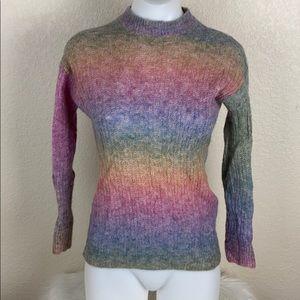 Aritzia Wilfred Free Alpaca Blend Rainbow Sweater